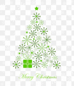 Green Snowflake Christmas Tree Vector - Christmas Tree Clip Art PNG