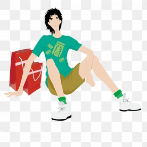 Shopping Boy - Man Illustration PNG