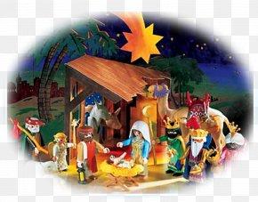 Christmas - Nativity Scene Christmas Playmobil Biblical Magi Nativity Of Jesus PNG