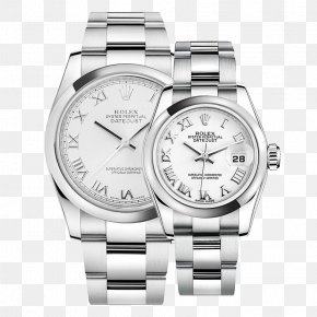 Silver Rolex Watch Men Watch Female Form Couple Tables - Rolex Submariner Counterfeit Watch PNG