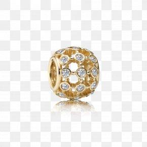 Pandora - Pandora Earring Charm Bracelet Cubic Zirconia Gold PNG