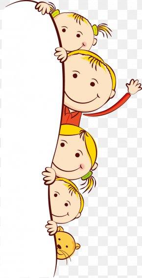 Cute Cartoon Kids Frame - Child Cartoon Clip Art PNG