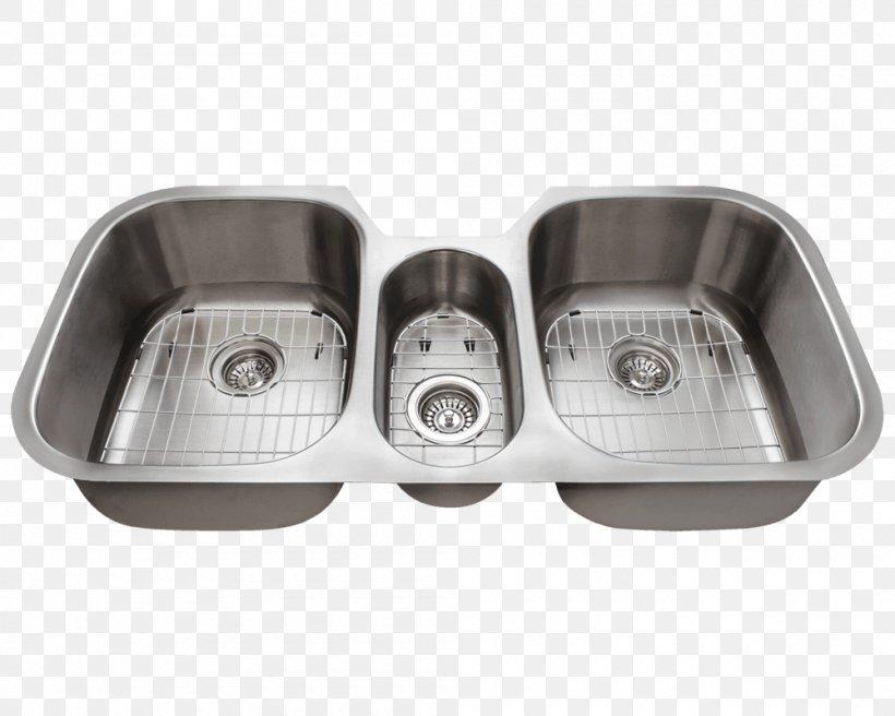 Kitchen Sink Stainless Steel Brushed Metal, PNG, 1000x800px, Sink, Bathroom, Bathroom Sink, Baths, Bowl Download Free