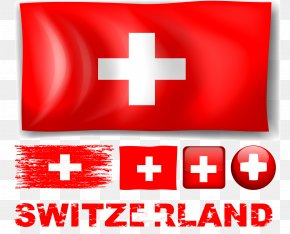 Vector Hand Painted Swiss Flag - Flag Of Switzerland PNG