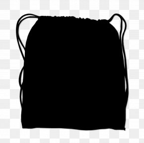 M Rectangle Font Bag Black M - Black & White PNG
