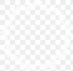 Round Lace Border Frame Clip Art - Line Symmetry Black And White Point Pattern PNG