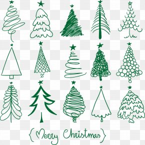 Christmas Tree Design, Vector - Christmas Tree Drawing Christmas And Holiday Season Christmas Ornament PNG