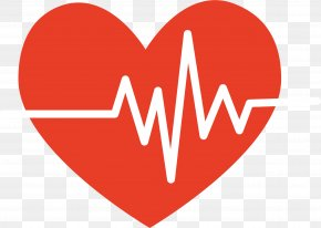 Heartbeat Cartoon - Heart Electrocardiography Pulse PNG