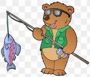 Fishing Bear - Fisherman Fishing Royalty-free Clip Art PNG