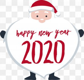 Christmas Santa Claus - Happy New Year 2020 New Years 2020 2020 PNG