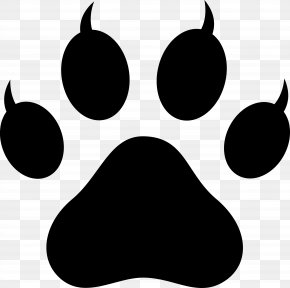 Paw Silhouette - Cat Kitten Dog Paw Clip Art PNG