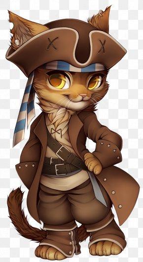 Pirate Cat Cliparts - Cat Piracy Costume Clip Art PNG