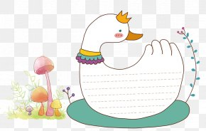 Cartoon Goose Text Box - Domestic Goose Text Box Cartoon PNG