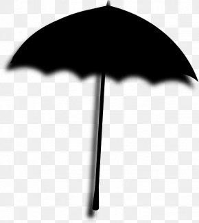 Blackandwhite Silhouette - Umbrella Cartoon PNG