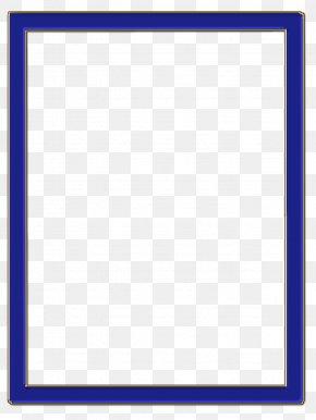 Blue Frame - Blue Rectangle Square Purple Violet PNG