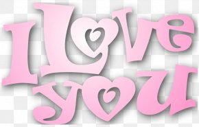 Valentines Pink I Love You Clipart - Love Heart Clip Art PNG