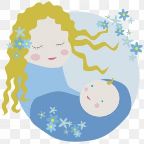 The Picture Illustration Mother Coaxed The Baby To Sleep - Mother Stock Photography Illustration PNG