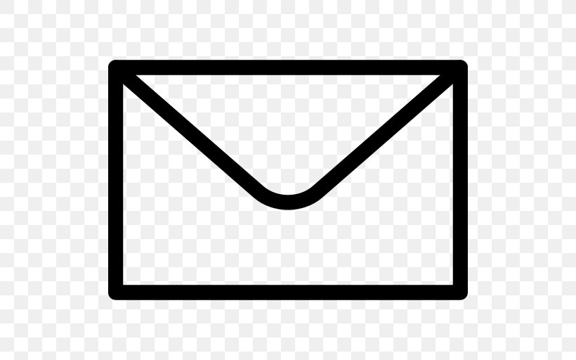 Envelope Icon, PNG, 512x512px, Envelope, Area, Black, Black And White, Font Awesome Download Free