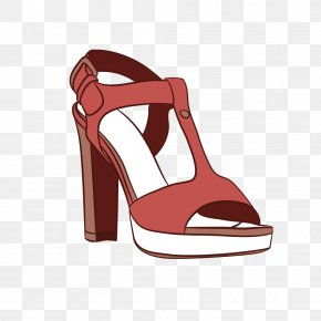 Vector Creative Flat Fish Head High Heels T Word - Shoe High-heeled Footwear Sandal Chelsea Boot PNG