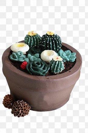 The Flower Pot Cactus Ice Cream - Ice Cream Chocolate Cake Torte Flowerpot PNG