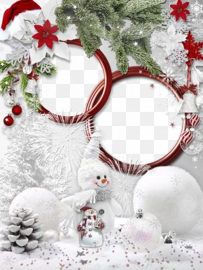 Christmas Hats Frame Material - Christmas Decoration Picture Frame Hat Christmas Tree PNG