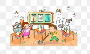 Hand-painted Children 2 - Student Child School Cartoon Clip Art PNG