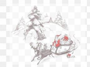 Santa Claus - Santa Claus Christmas Ornament Sled PNG