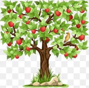 Cartoon Apple Tree - Apple Stock Photography Clip Art PNG
