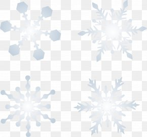 Sky Snow Snowflake Vector Material - Symmetry Blue Pattern PNG
