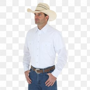 T-shirt - T-shirt Western Wear Snap Fastener Wrangler PNG