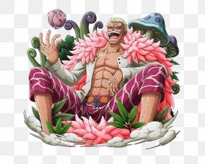 One Piece - Donquixote Doflamingo One Piece Treasure Cruise Monkey D. Luffy Dracule Mihawk Buggy PNG