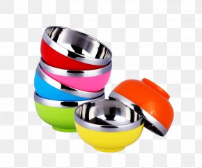 Stainless Steel Bowl Child Color Drop Resistance - Bowl Stainless Steel PNG