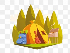 Games Form Of Creativity Illustration - Outdoor Recreation Cartoon Hiking Camping PNG