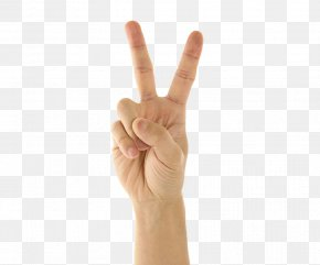 The Direction Of The Finger Gestures. - Thumb Gesture V Sign Finger PNG