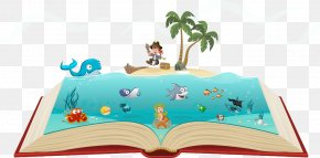 Vector Books In The Sea - Drawing Photography Royalty-free Illustration PNG