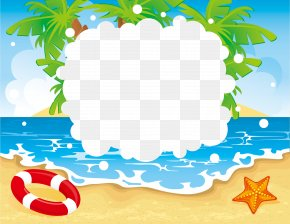 Summer - Beach Seaside Resort Summer Vacation Clip Art PNG