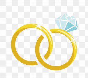 Cartoon Vector Material Diamond Wedding Ring - Wedding Ring Marriage PNG