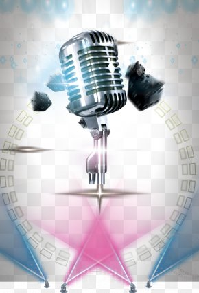 Beautifully Microphone Stage Lighting - Microphone Poster Stage PNG