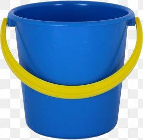 Plastic Blue Bucket Image - Bucket Plastic Water Pail Mop PNG