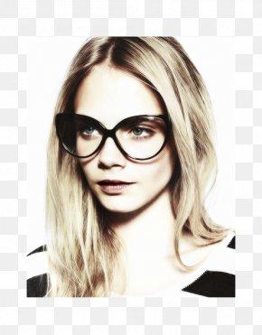 Cara Delevingne - Cat Eye Glasses Sunglasses Fashion Designer PNG