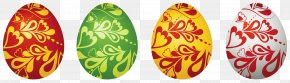 Easter Decorative Eggs Set Clipart Picture - Easter Bunny Clip Art PNG
