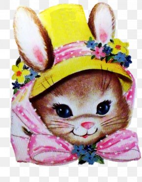 Easter Bonnet - Easter Bunny Rabbit Greeting & Note Cards Clip Art PNG
