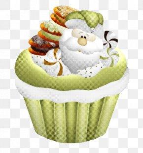 Muffin Cream - Green Cupcake Baking Cup Cake Food PNG