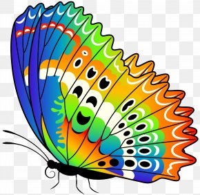 Colorful Butterfly Clip Art Image - Monarch Butterfly Clip Art PNG