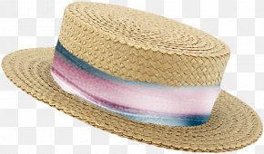 Summer Straw Hat - Straw Hat PNG