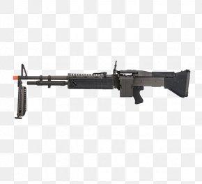 Black Machine Gun - Airsoft Gun M60 Machine Gun Light Machine Gun PNG