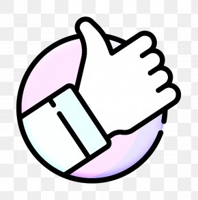 Thumb Line Art - Good Icon Voting Icon Positive Vote Icon PNG