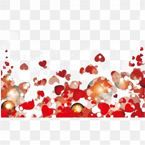 Love Frame - Valentines Day Falling In Love Heart PNG