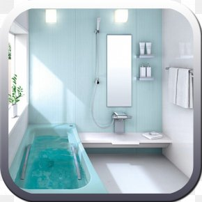 Light - Bathroom Light Blue Interior Design Services PNG