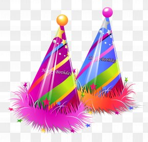 Happy Birthday Party Hats Transparent Clipart - Birthday Cake Party Clip Art PNG